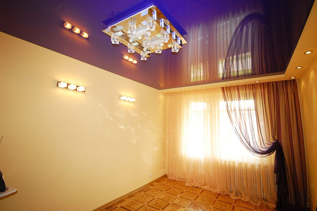 натяжные потолки картинки для зала глянцевый одноярусный всегда
